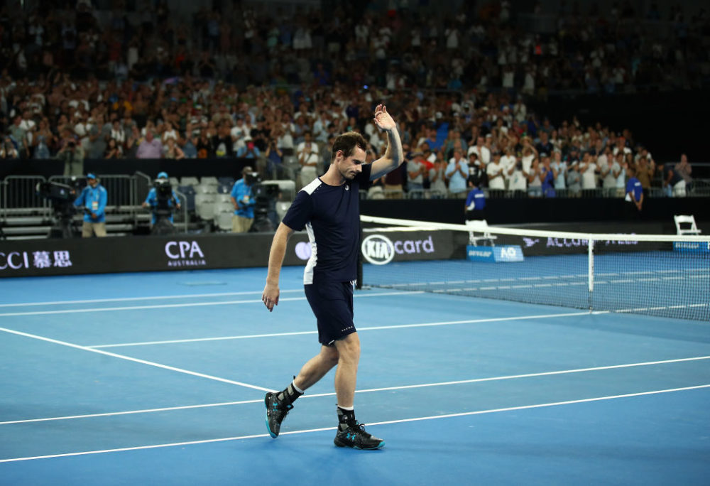Andy Murray lost in the first round of the 2019 Australian Open on Monday. (Julian Finney/Getty Images)