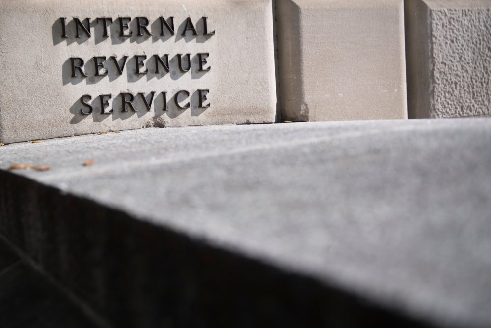 The Internal Revenue Service building is viewed in Washington, DC, on April 18, 2018. (Jim Watson/AFP/Getty Images)