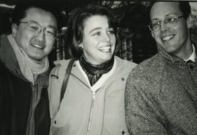 Partners In Health (PIH) was founded in Boston in 1987 by Jim Kim, Ophelia Dahl, Paul Farmer (pictured, left to right) Todd McCormack, and Thomas J. White. (Courtesy)
