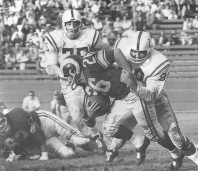 Jon Arnett (26) played for the Los Angeles Rams and Chicago Bears. (Courtesy Jane Arnett)