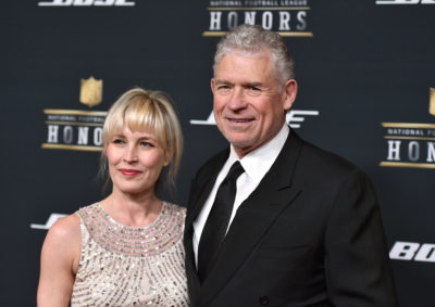 Lisa Marie Riggins (left) and John Riggins. (Jordan Strauss/Invision for NFL/AP Images)