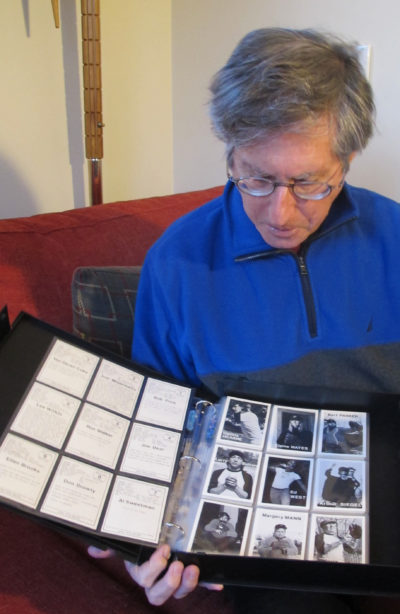 Dedicated card collector Mike Mandel. (Gary Waleik/Only A Game)