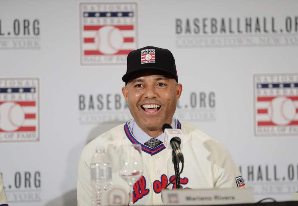 Baseball Hall of Fame inductee Mariano Rivera speaks at a news conference on Wednesday in New York. (Frank Franklin II/AP)