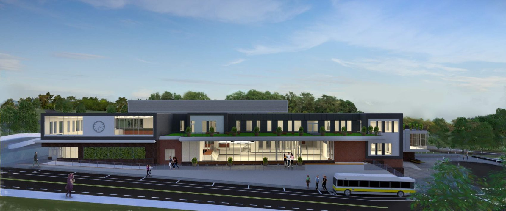 A rendering of the revised, smaller proposal for the new Roxbury Prep High School (Courtesy of Symmes Maini & McKee Associates)