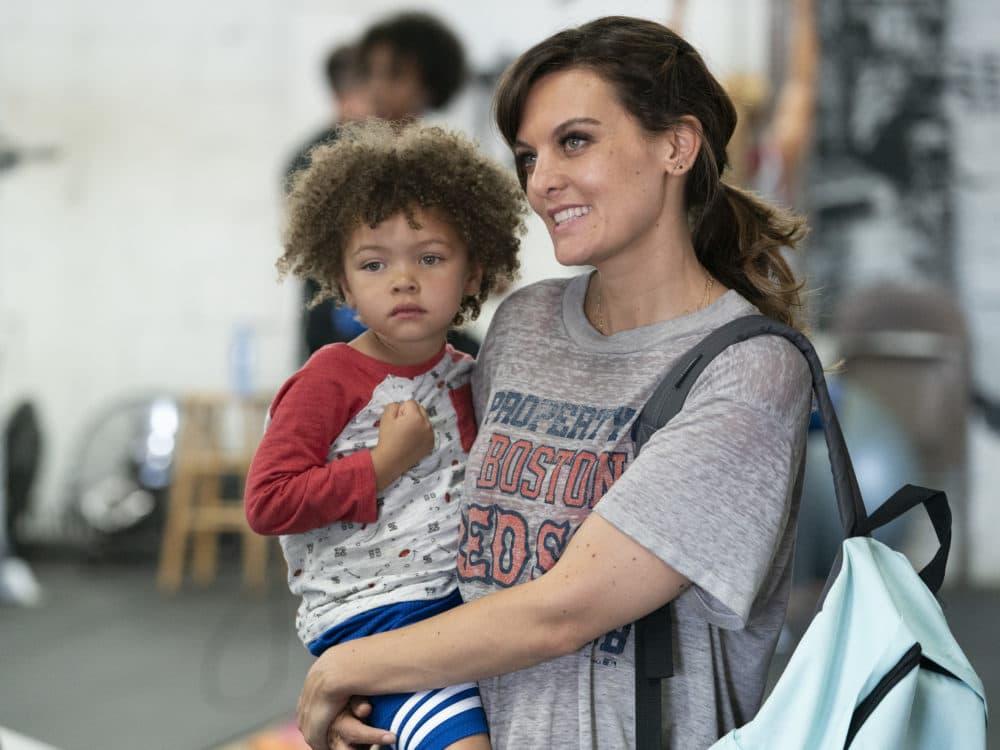"Alexandra/Anna Reimer as Larry and Frankie Shaw as Bridgette in ""SMILF."" (Courtesy Mark Schafer/Showtime)"