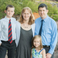 Betsy and Chris Davie with their children Nathan and Julia (Courtesy of Jess Oullis/Oullis Photography)