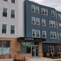 The new Acadia apartment complex in Chelsea is ready to house 34 families but can't open because the National Grid lockout has left the affordable housing units without gas. (Courtesy of Neighborhood Developers)