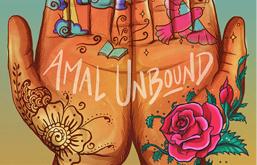 "The cover of ""Amal Unbound"" (Penguin 2018) by Aisha Saeed."