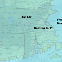 Some light snow Friday could bring slick travel early. (Dave Epstein/WBUR)