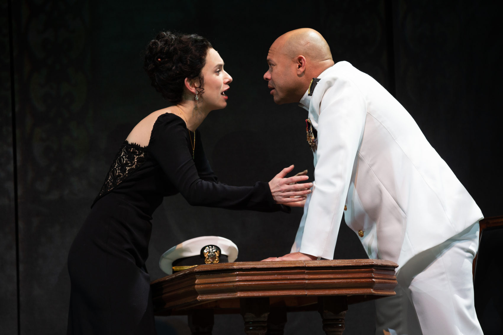 "Alejandra Escalante as Desdemona and Chris Butler as the title character in ""Othello."" (Courtesy Natasha Moustache)"