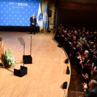 Boston Mayor Marty Walsh addresses the audience at the State of the City address on Tuesday, Jan. 15, 2019. (Courtesy Mayor's Twitter)