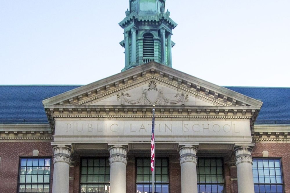 Boston Latin School. (Jesse Costa/WBUR)