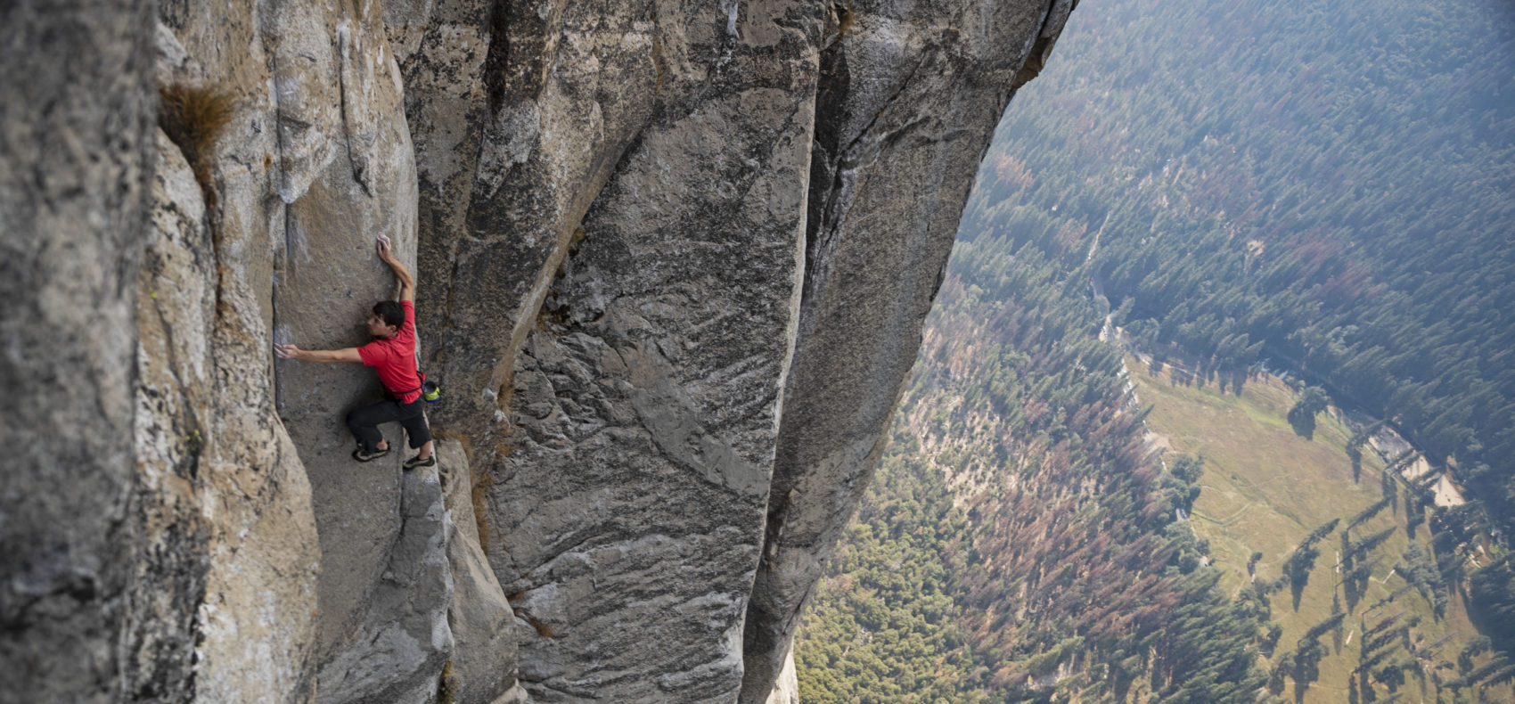 Alex Honnold free-solo climbs El Capitan's Freerider in Yosemite National Park. (Jimmy Chin/Courtesy of National Geographic)