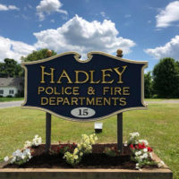 The Hadley Police & Department sign is shown. (Courtesy Hadley Police Department)