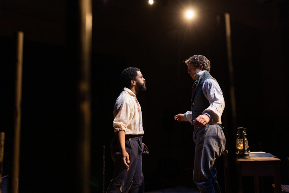 Brandon G. Green as Nat Turner and Lewis D. Wheeler as Thomas Gray. (Courtesy Nile Scott Shots)