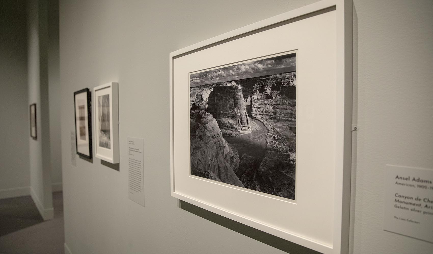 "Ansel Adams' ""Canyon de Chelly National Monument"" at the Museum of Fine Arts. (Robin Lubbock/WBUR)"