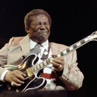 Blues musician B.B. King performs on Dec. 12, 1989, in Paris. (Bertrand Guay/AFP/Getty Images)