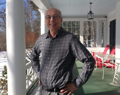 Tom Johnson owns and runs the Birchwood Inn in Lenox, Massachusetts. He says bookings have decreased due to competition from Airbnb rentals. (Nancy Eve Cohen/NEPR)