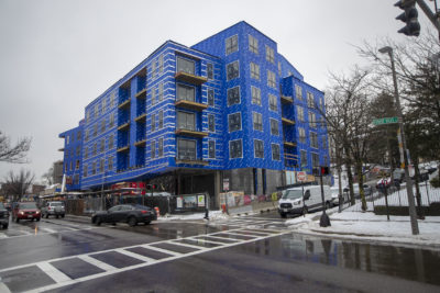 3200 Washington St. will include a 73-unit apartment development in Egleston Square. (Jesse Costa/WBUR)