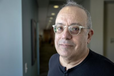 Music producer, songwriter, and performer, Larry Klein. (Robin Lubbock/WBUR)