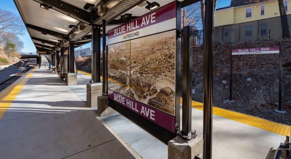 The Blue Hill Avenue Station opened on the MBTA Commuter Rail on Monday, Feb. 25. (Courtesy MBTA Commuter Rail)