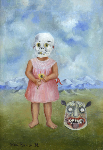 """Girl With Death Mask,"" by Frida Kahlo. (Courtesy, Museum of Fine Arts, Boston)"