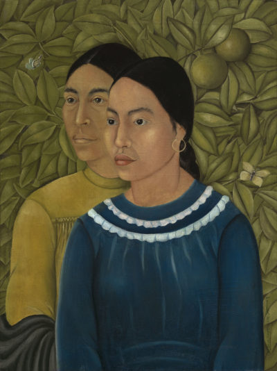 """Dos Mujeres,"" painted around 1928 by Frida Kahlo. (Courtesy Museum of Fine Arts)"