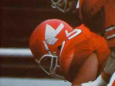 The Redmen logo was featured on McGill's football helmets until the early '90s. (Courtesy Suzanne Morton)