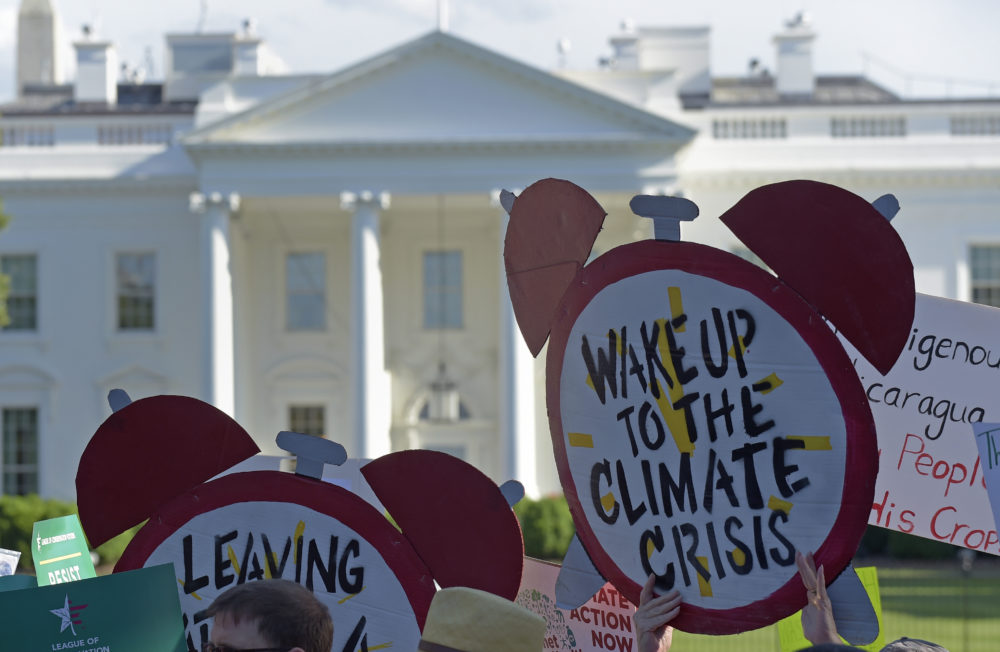 Environmental activists are ramping up a pressure to stoke support for a plan known as the Green New Deal.  (Susan Walsh/AP)