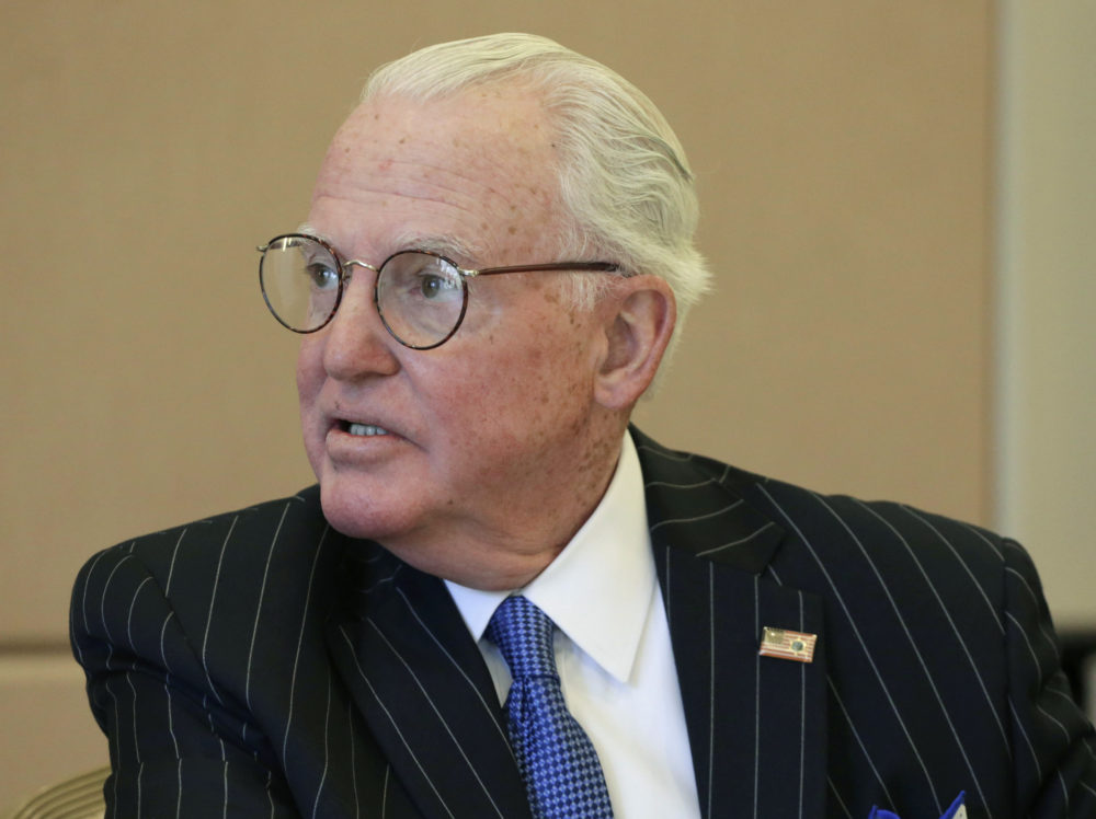 Ed Burke, the dean of Chicago's City Council, was re-elected Tuesday to his 13th term in office, just weeks after FBI agents raided his offices and charged him with attempted extortion. (M. Spencer Green/AP)
