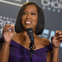 """Regina King poses in the press room with the award for best supporting actress for """"If Beale Street Could Talk"""" at the 24th annual Critics' Choice Awards on Sunday, Jan. 13, 2019, at the Barker Hangar in Santa Monica, Calif. (Jordan Strauss/Invision/AP)"""