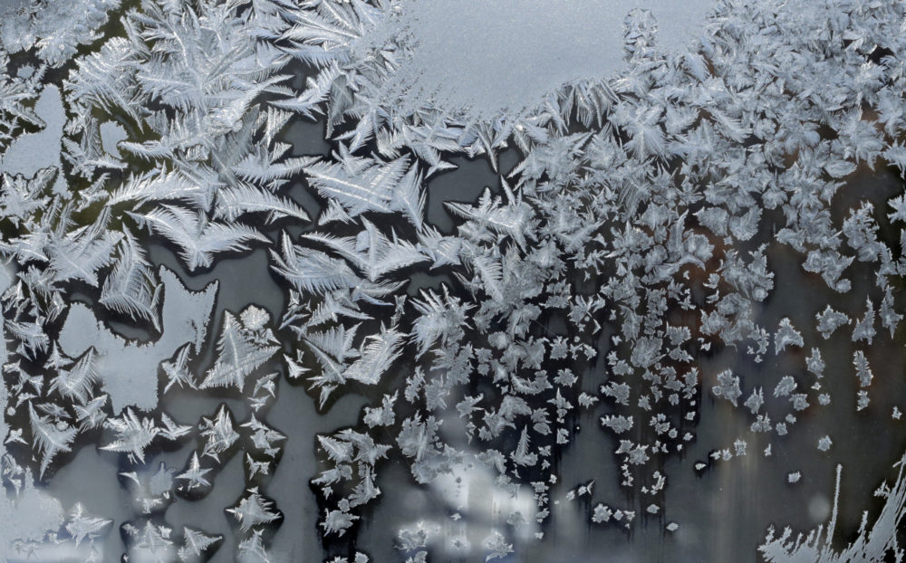 Ice Crystals form on a window Thursday, Jan. 31, 2019, in Pepper Pike, Ohio. (Tony Dejak/AP)