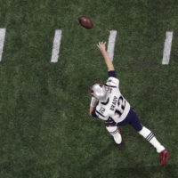 New England Patriots' Tom Brady throws before the NFL Super Bowl 53 football game between the Los Angeles Rams and the New England Patriots, Sunday, Feb. 3, 2019, in Atlanta. (Morry Gash/AP)