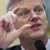 Massachusetts Gov. Charlie Baker testifies before a House Natural Resources Committee hearing on climate change, on Capitol Hill on Wednesday, Feb. 6, 2019. (Cliff Owen/AP)