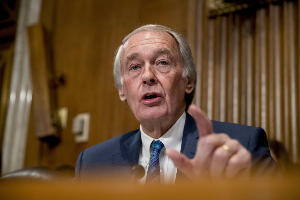 Sen. Ed Markey, D-Mass., speaks during a hearing on Capitol Hill in Washington.  (Andrew Harnik/ AP File Photo)