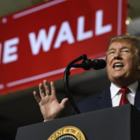 President Donald Trump speaks during a rally in El Paso, Texas, Monday, Feb. 11, 2019. Trump is in Texas to try and turn the debate over a wall at the U.S.-Mexico border back to his political advantage. (Susan Walsh/AP)