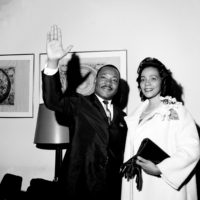 Martin Luther King Jr. and Coretta Scott King in New York on on June 8, 1964.  (AP)