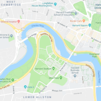 Harvard is planning to develop a research and performance center in Allston. (Google Maps)