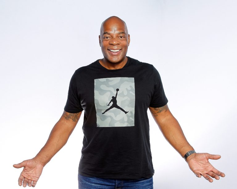 PASADENA, CA - JULY 07:  Comedian Alonzo Bodden poses during his appearance at The Ice House Comedy Club on July 7, 2018 in Pasadena, California.  (Photo by Michael S. Schwartz/Contour by Getty Images) *** Local Caption *** Alonzo Bodden