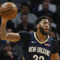 Anthony Davis made headlines last week when his agent publicly requested a trade from New Orleans. (Jim Mone/AP)