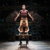 "Spencer Hamp (top) as Birdy and Maxim Chumov as Al in ""Birdy"" at Babson College. (Courtesy Evgenia Eliseeva)"