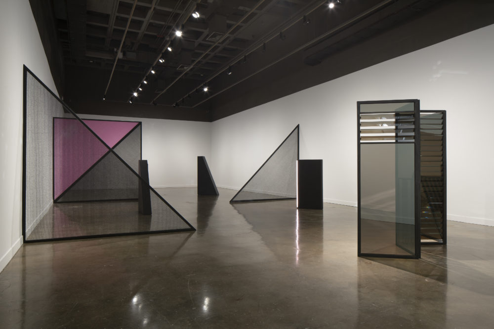 """Kapwani Kiwanga: Safe Passage"" installed at MIT List Visual Arts Center. (Courtesy Peter Harris Studio)"