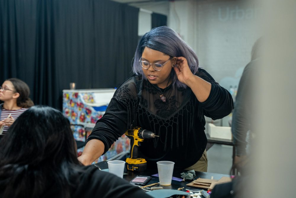 "As part of her residency with The Urbano Project, Thervil is teaching a youth centered art class called ""The Promise of Tomorrow."" (Courtesy Faizal Westcott/Urbano Project)"