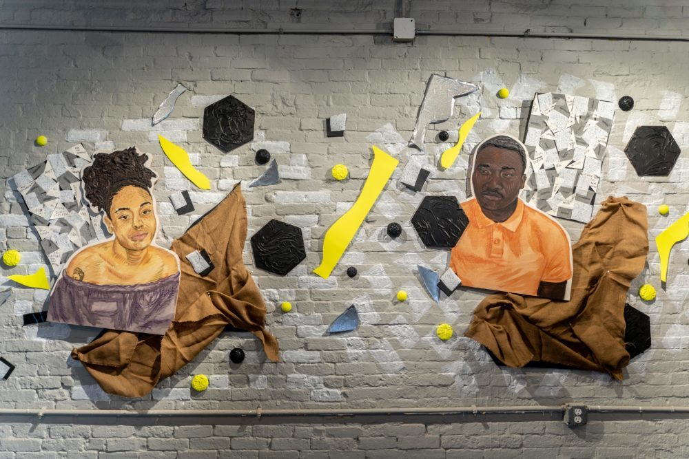 """Chanel Thervil's """"Enigma: Reactions to Racism"""" is on view at Urbano Project until May 3. (Courtesy Faizal Westcott/Urbano Project)"""