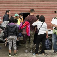 People wait in line for legal assistance in Tijuana, Mexico (Jozef Staska)
