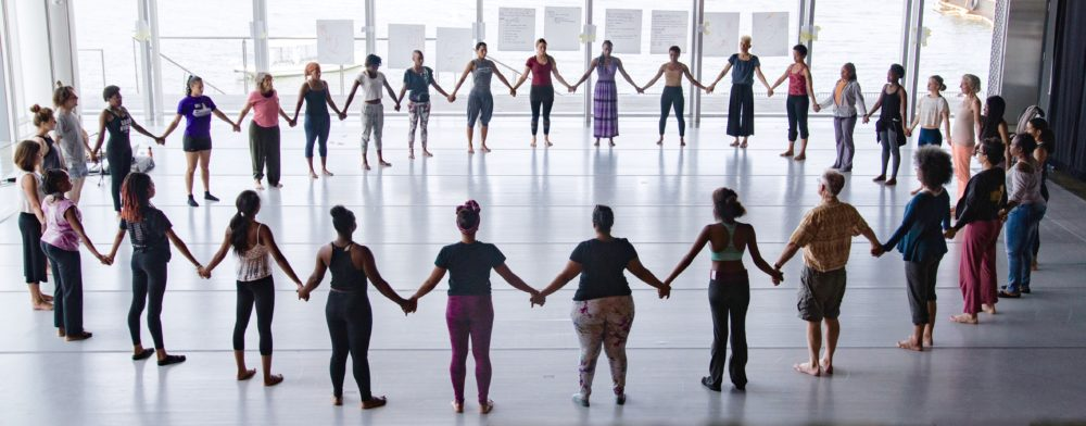 Dancers during a previous Dance For Social Justice workshop. (Courtesy Tony Turner)