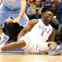 Williamson is not expected to play in Duke's next game against Syracuse. (Streeter Lecka/Getty Images)