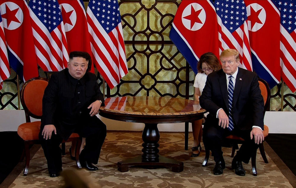 President Trump and North Korean leader Kim Jong Un abruptly cut short their two-day summit in Vietnam as talks broke down and both leaders failed to reach an agreement on nuclear disarmament. (Vietnam News Agency/Handout/Getty Images)