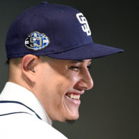 Manny Machado agreed to a $300-million, 10-year deal with the San Diego Padres this week, the biggest contract ever for a free agent. (Jennifer Stewart/Getty Images)