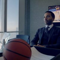 """André Holland as Ray Burke in """"High Flying Bird,"""" directed by Steven Soderbergh. (Courtesy Peter Andrews/Netflix)"""